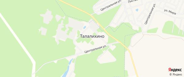 Карта села Талалихино города Чехов в Московской области с улицами и номерами домов