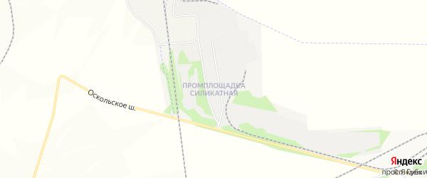 Промплощадка Силикатная промышленная зона на карте Старооскольского района с номерами домов