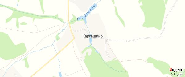 Карта деревни Каргашино в Московской области с улицами и номерами домов