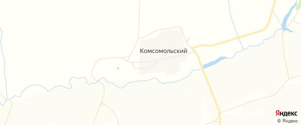 Карта Комсомольского поселка в Орловской области с улицами и номерами домов