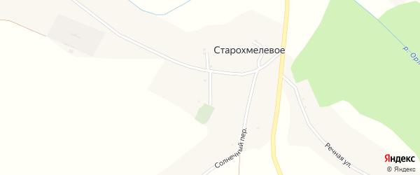 Заречный переулок на карте Старохмелевого села с номерами домов
