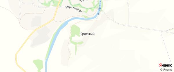 Карта Красного поселка в Орловской области с улицами и номерами домов