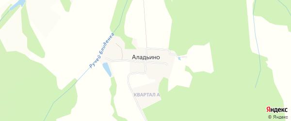 Карта деревни Аладьино в Московской области с улицами и номерами домов
