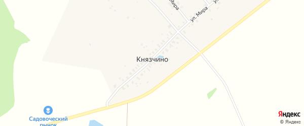 Полевая улица на карте деревни Князчино Московской области с номерами домов
