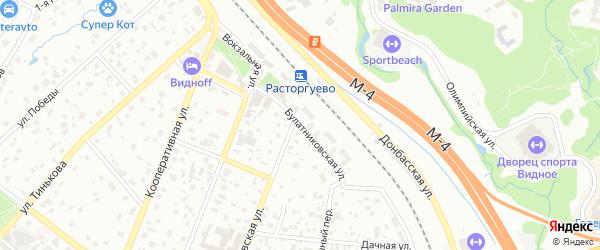 Булатниковская улица на карте Видного с номерами домов