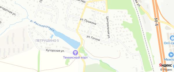 Улица Гоголя на карте Видного с номерами домов