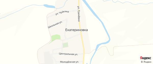 Карта села Екатериновки в Орловской области с улицами и номерами домов