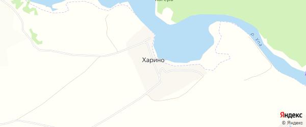 Карта деревни Харино в Тульской области с улицами и номерами домов