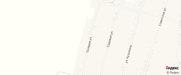 Полевая улица на карте Успенского села Орловской области с номерами домов