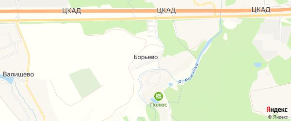 Карта деревни Борьево города Подольска в Московской области с улицами и номерами домов