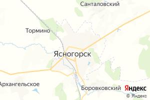 Карта г. Ясногорск Тульская область