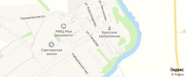 Улица Говорова на карте Сергиевского села Орловской области с номерами домов