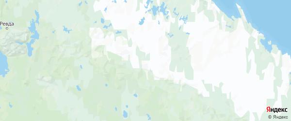 Карта Ловозерского района Мурманской области с городами и населенными пунктами