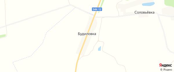 Карта деревни Будиловки в Орловской области с улицами и номерами домов