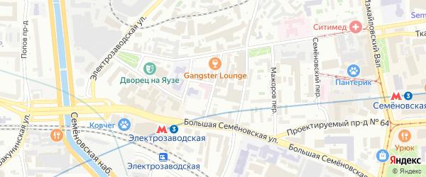 Барабанный переулок на карте Москвы с номерами домов