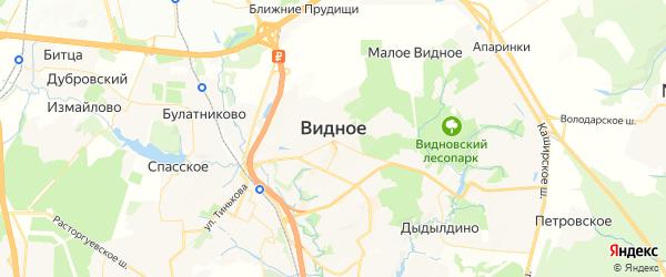 Карта Видного с районами, улицами и номерами домов