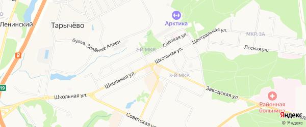 Территория ГСК Мечта-1 на карте Видного с номерами домов