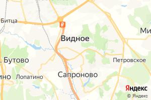 Карта г. Видное Московская область