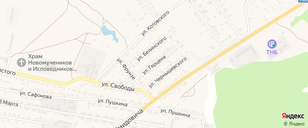 Улица Герцена на карте Ясногорска с номерами домов