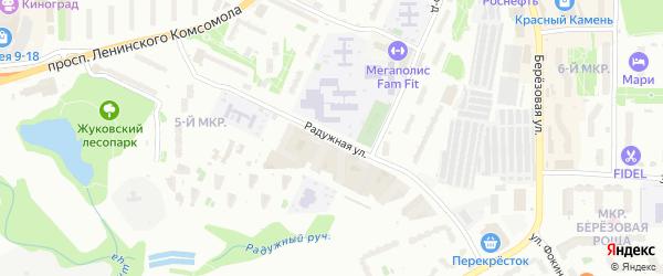 Радужная улица на карте Видного с номерами домов