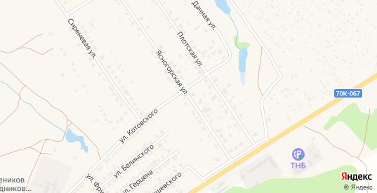 Ясногорская улица в Ясногорске с номерами домов на карте. Спутник и схема онлайн