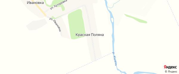 Карта деревни Красной Поляны в Орловской области с улицами и номерами домов