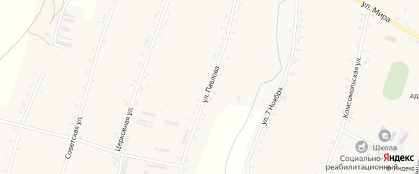 Улица Павлова на карте Успенского села Орловской области с номерами домов