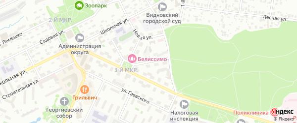 Радиальная 3-я улица на карте Видного с номерами домов