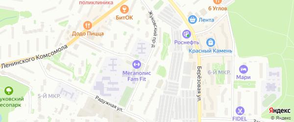 Жуковский проезд на карте Видного с номерами домов