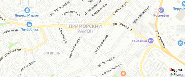 Улица Комарова на карте села Цемдолины с номерами домов