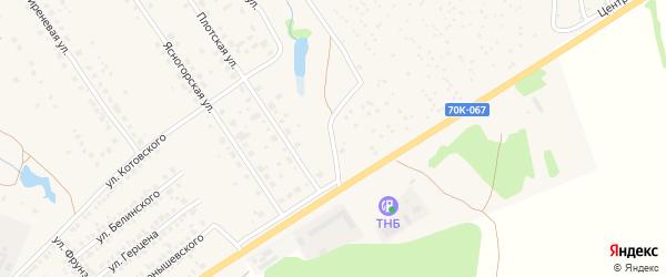 Дачная улица на карте Ясногорска с номерами домов