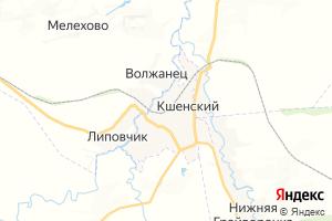 Карта пос. Кшенский Курская область