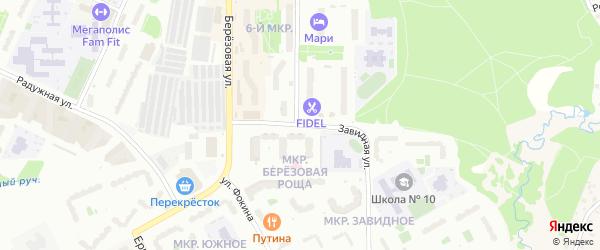 Завидная улица на карте Видного с номерами домов