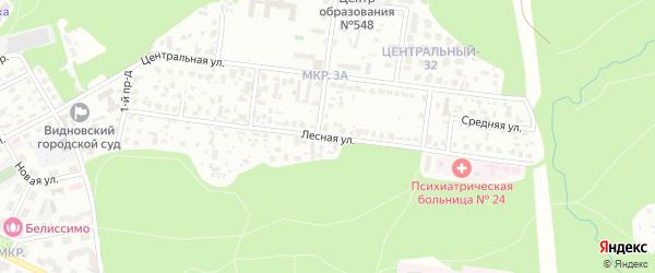 Лесная улица на карте Видного с номерами домов