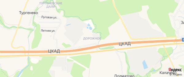 Территория Владение Дорожное на карте села Долматово с номерами домов