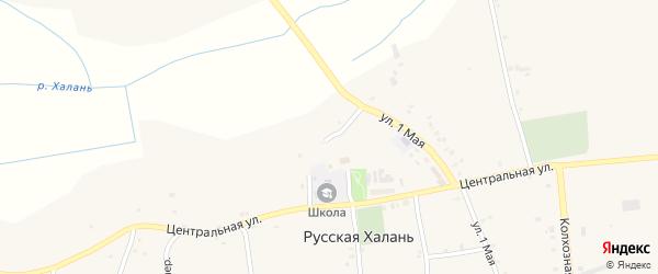 5-й Центральный переулок на карте села Русской Халани с номерами домов