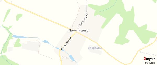 Карта деревни Прончищево в Московской области с улицами и номерами домов