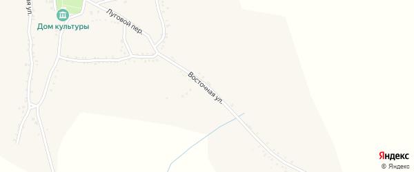 Восточная улица на карте Беломестного села Белгородской области с номерами домов