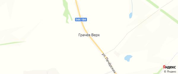Карта деревни Грачева Верха в Орловской области с улицами и номерами домов