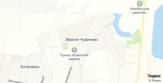 Карта села Верхне-Чуфичево в Белгородской области