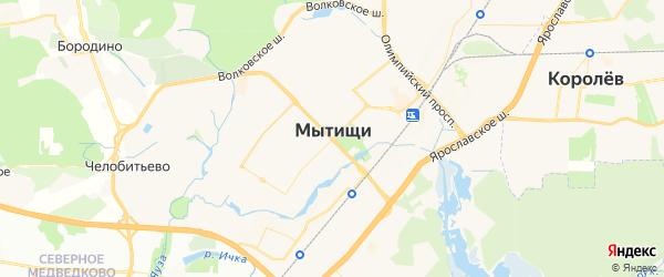 Карта Мытищи с районами, улицами и номерами домов