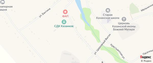 Улица М.Горького на карте Казанского села Орловской области с номерами домов