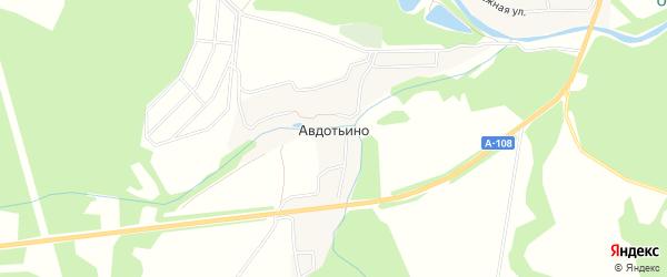 Карта деревни Авдотьино города Ступино в Московской области с улицами и номерами домов