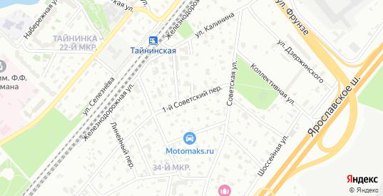 Советский 1-й переулок в Мытищах с номерами домов на карте. Спутник и схема онлайн