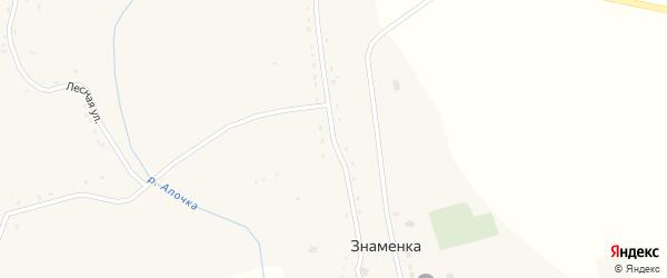 Пролетарская улица на карте села Знаменки Курской области с номерами домов