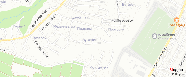Родниковая улица на карте хутора Ленинского Пути с номерами домов