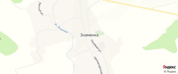 Карта села Знаменки в Курской области с улицами и номерами домов