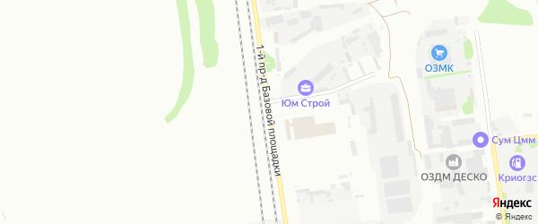 Площадка Машиностроительная проезд-1 на карте территории Юго-западный промрайон с номерами домов