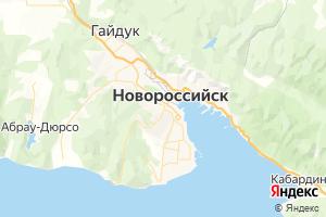 Карта г. Новороссийск Краснодарский край