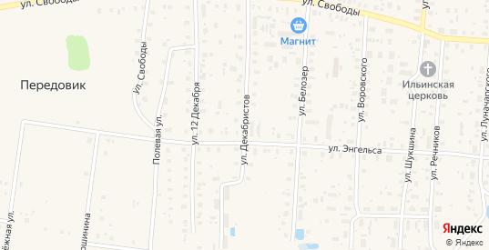 Улица Декабристов в Белозерске с номерами домов на карте. Спутник и схема онлайн